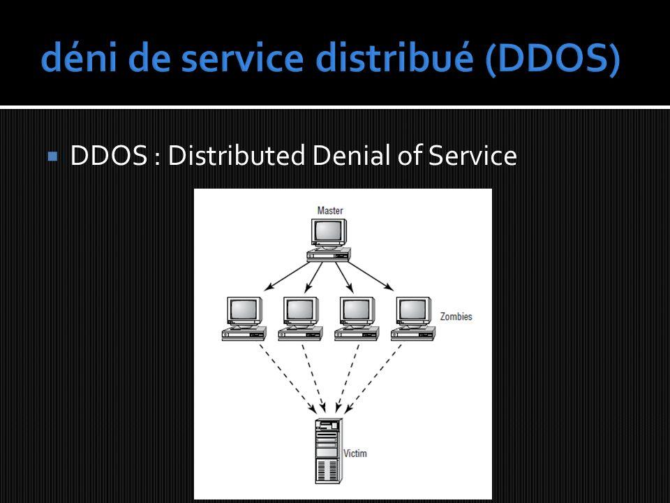 déni de service distribué (DDOS)