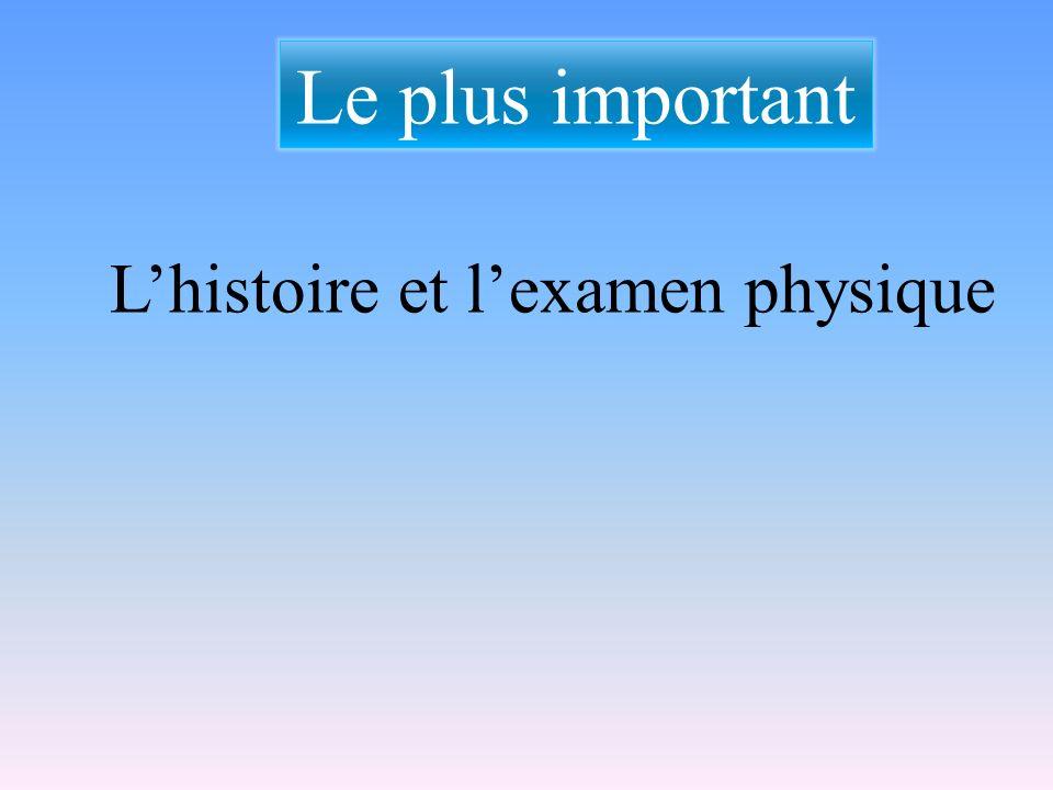 Le plus important L'histoire et l'examen physique