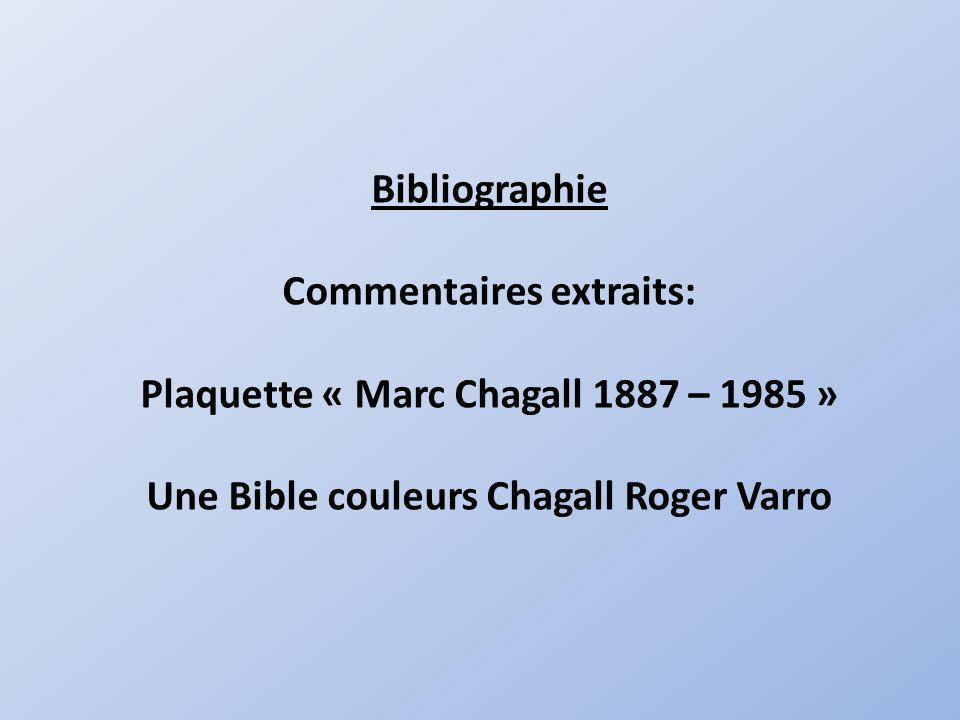Commentaires extraits: Plaquette « Marc Chagall 1887 – 1985 »