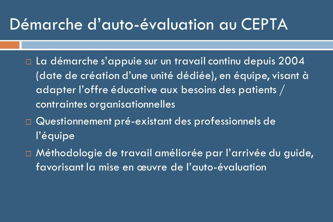 Démarche d'auto-évaluation au CEPTA