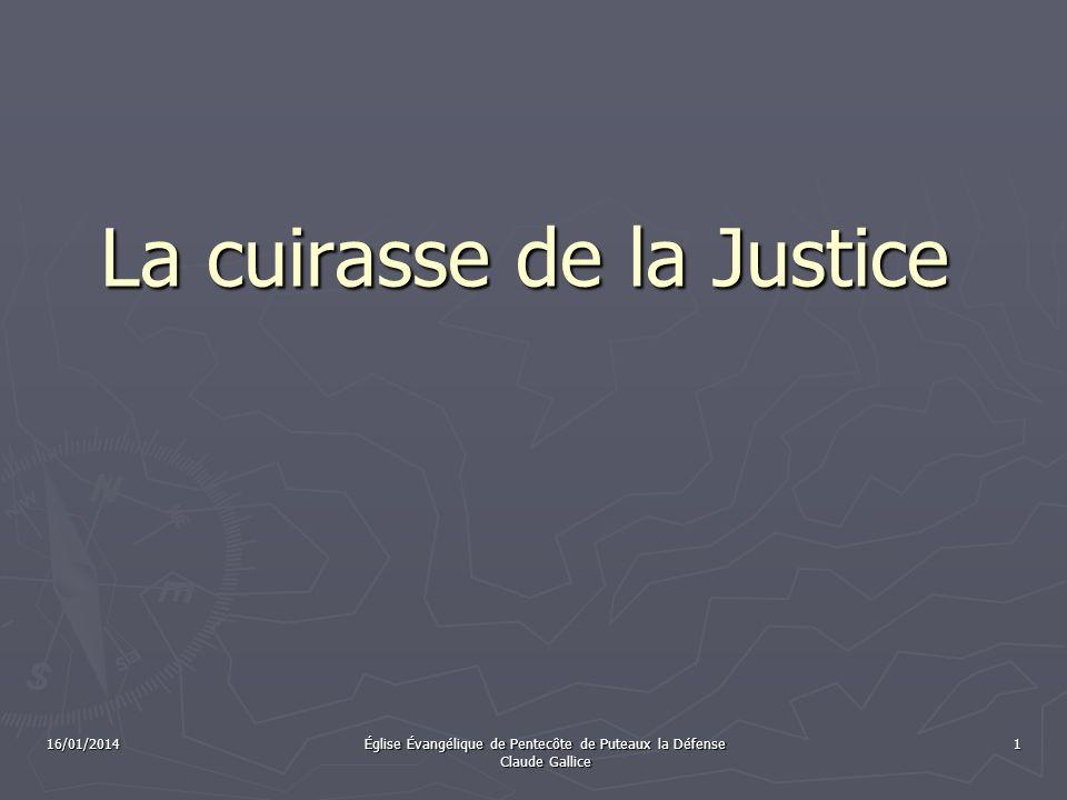 La cuirasse de la Justice