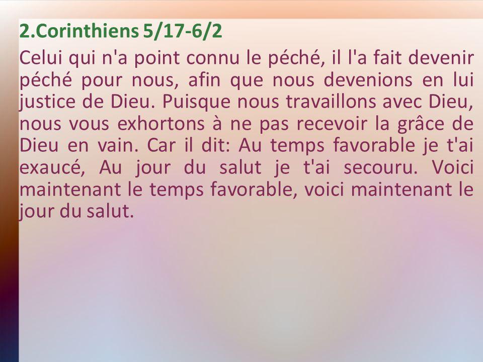 2.Corinthiens 5/17-6/2