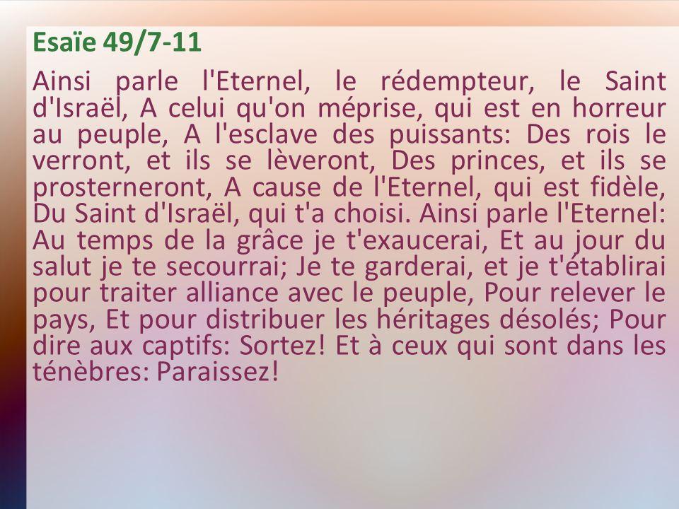 Esaïe 49/7-11