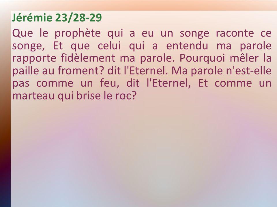 Jérémie 23/28-29