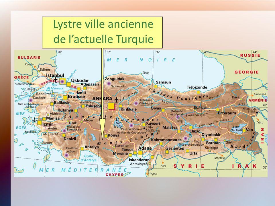 Lystre ville ancienne de l'actuelle Turquie