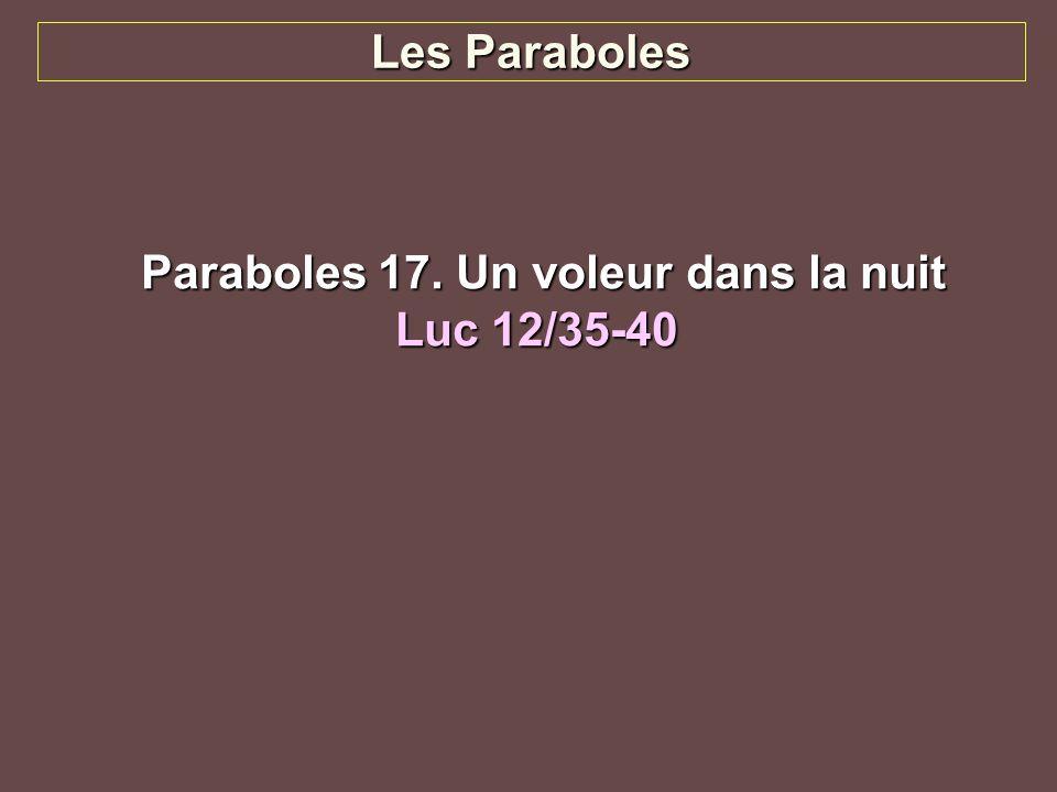 Paraboles 17. Un voleur dans la nuit