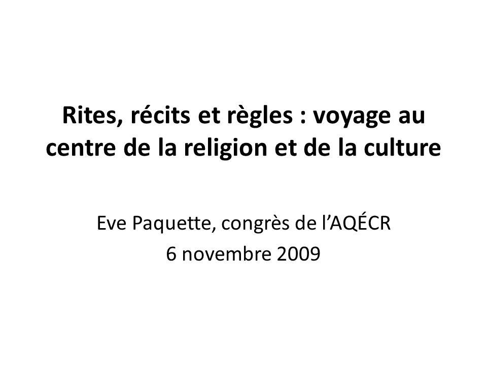 Eve Paquette, congrès de l'AQÉCR 6 novembre 2009