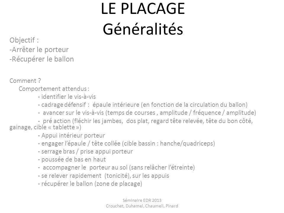 LE PLACAGE Généralités