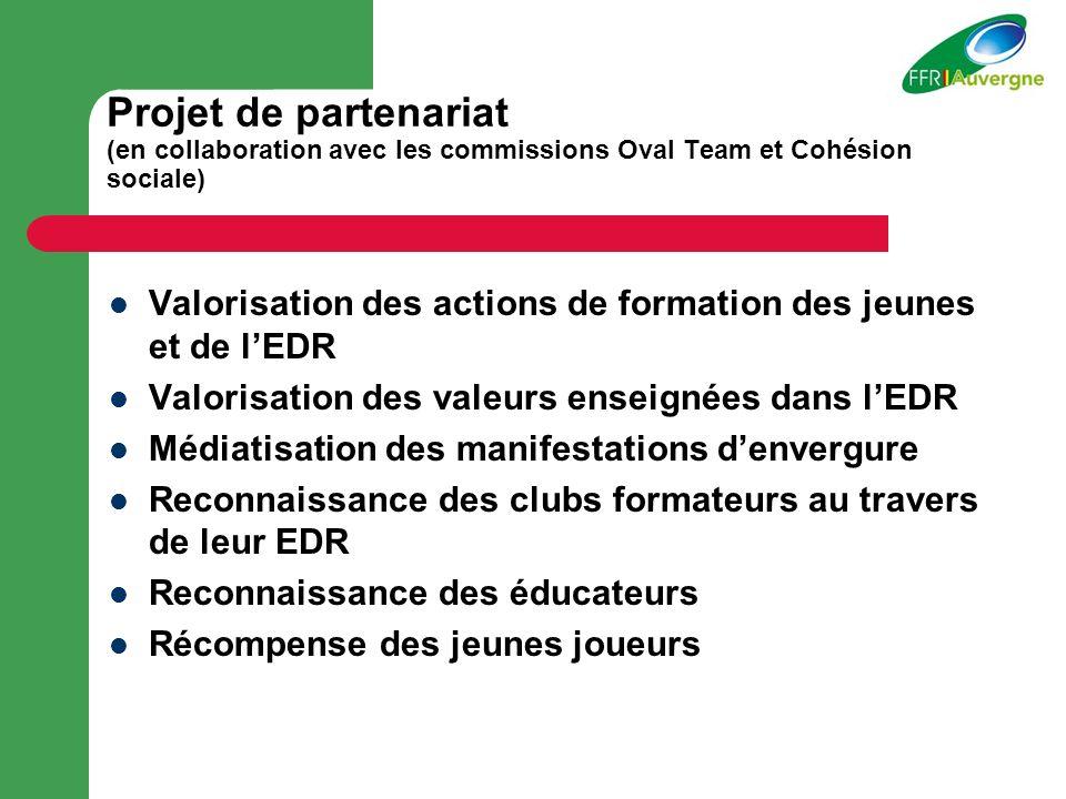Projet de partenariat (en collaboration avec les commissions Oval Team et Cohésion sociale)
