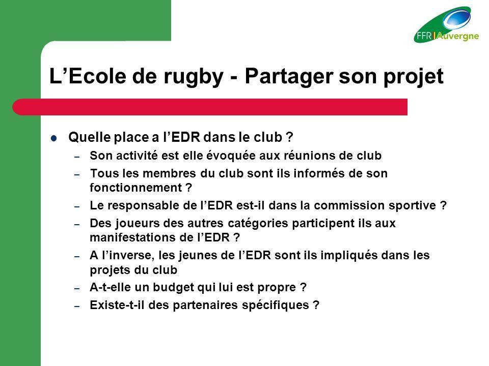 L'Ecole de rugby - Partager son projet
