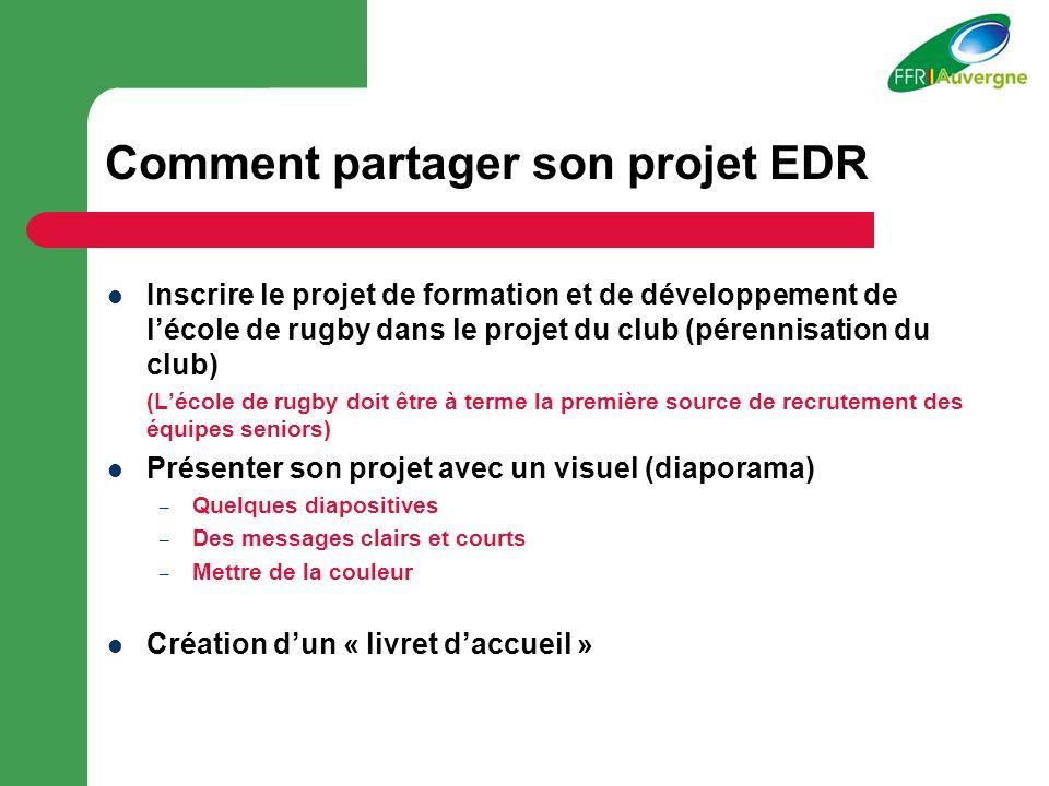 Comment partager son projet EDR