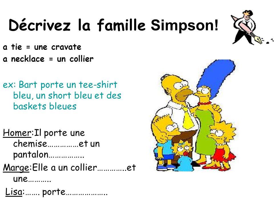 Décrivez la famille Simpson!