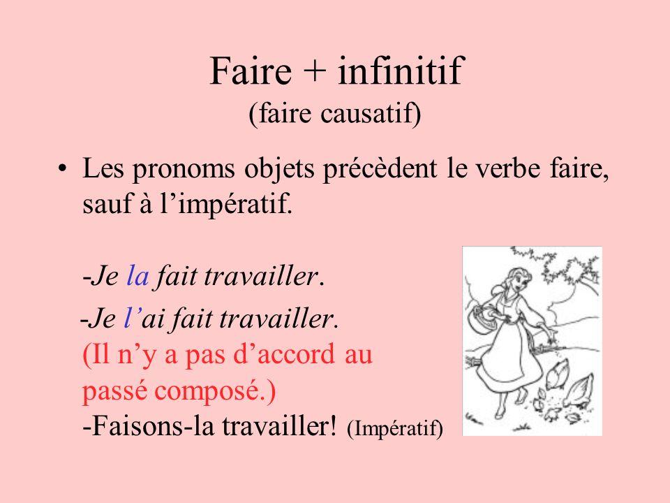 Faire + infinitif (faire causatif)