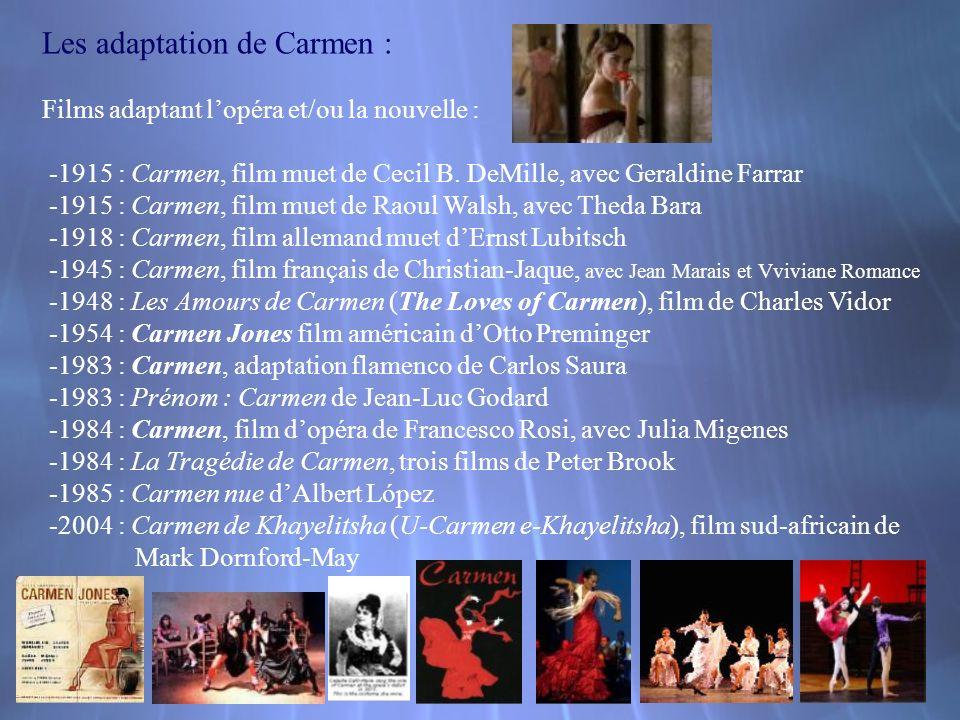 Les adaptation de Carmen :