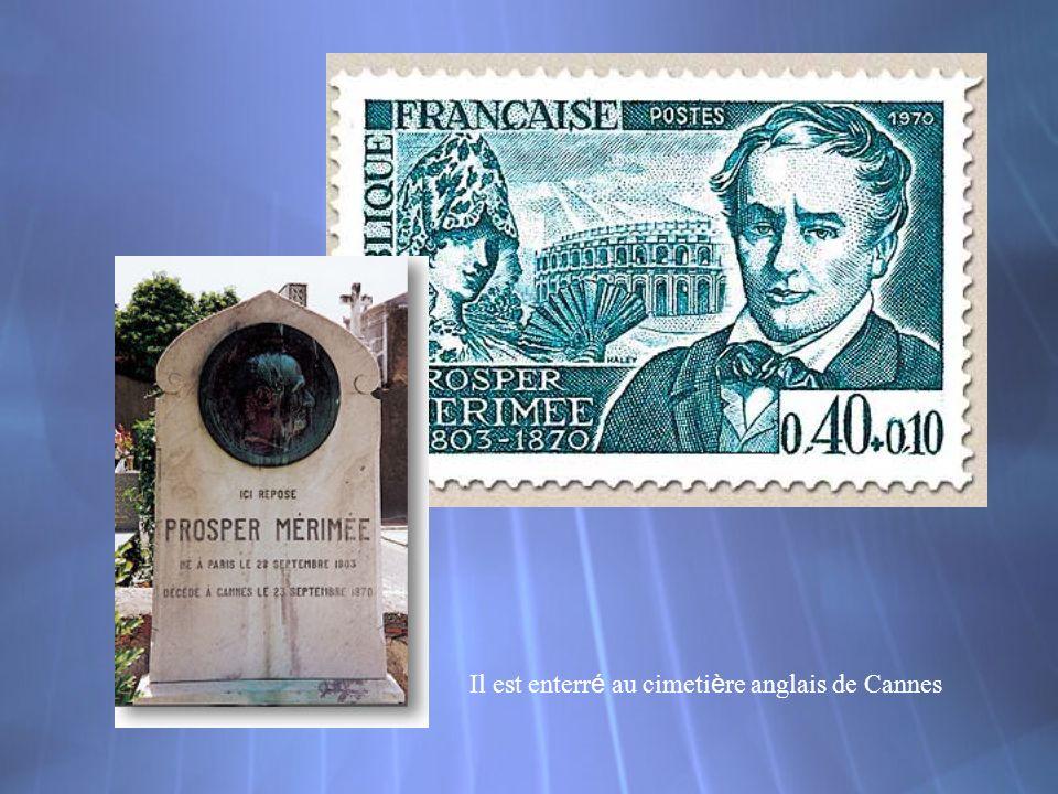 Il est enterré au cimetière anglais de Cannes