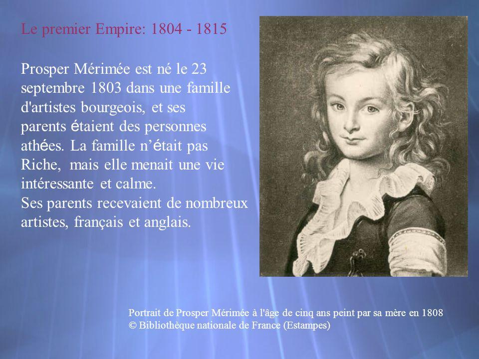 Prosper Mérimée est né le 23 septembre 1803 dans une famille