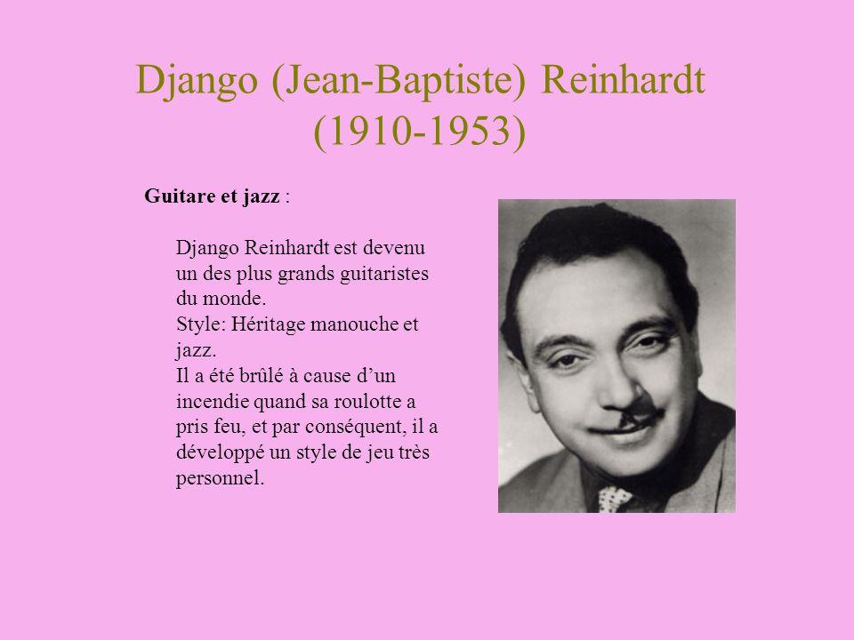 Django (Jean-Baptiste) Reinhardt (1910-1953)