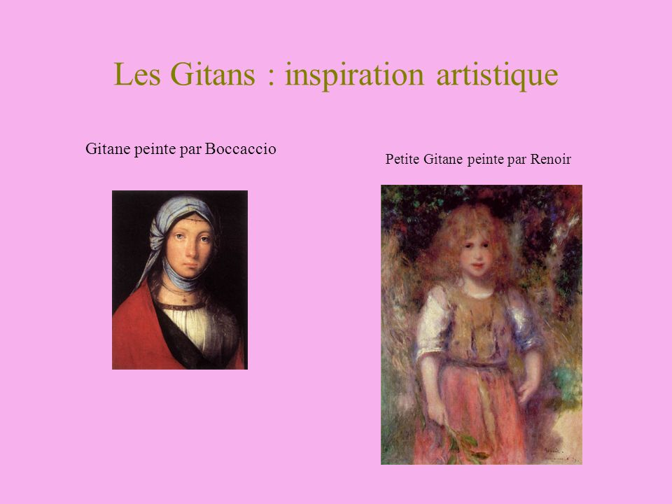 Les Gitans : inspiration artistique