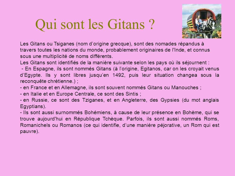 Qui sont les Gitans
