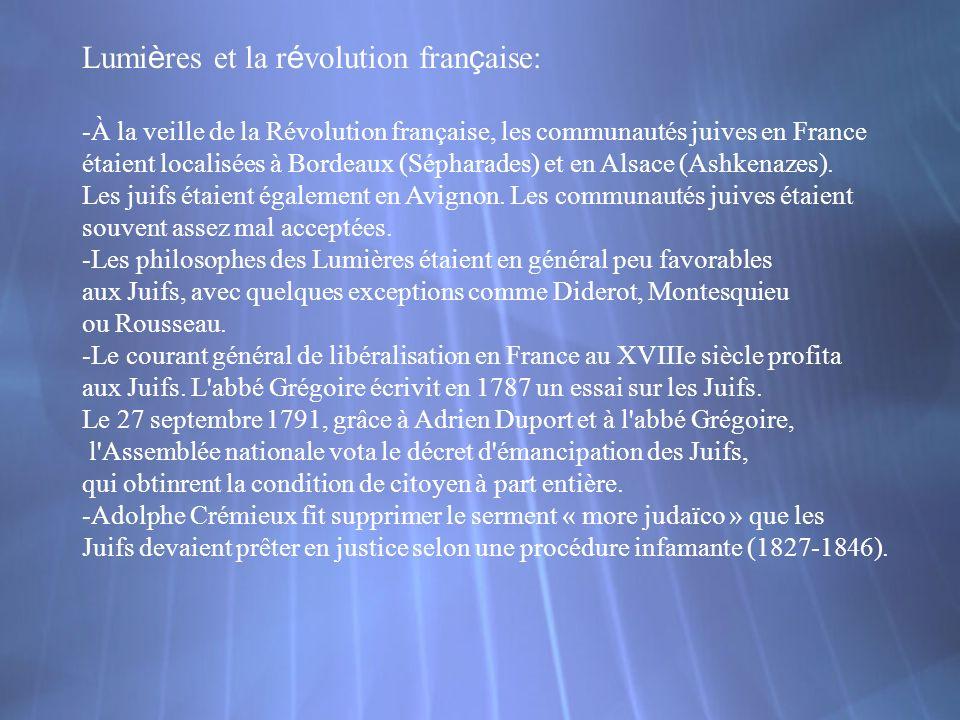 Lumières et la révolution française: