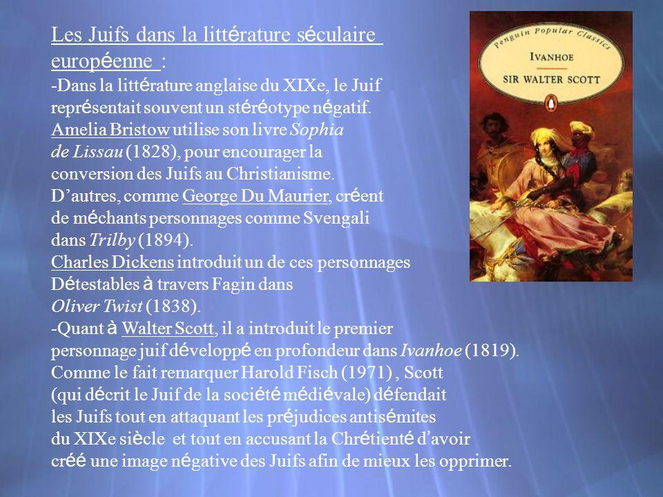 Les Juifs dans la littérature séculaire européenne :