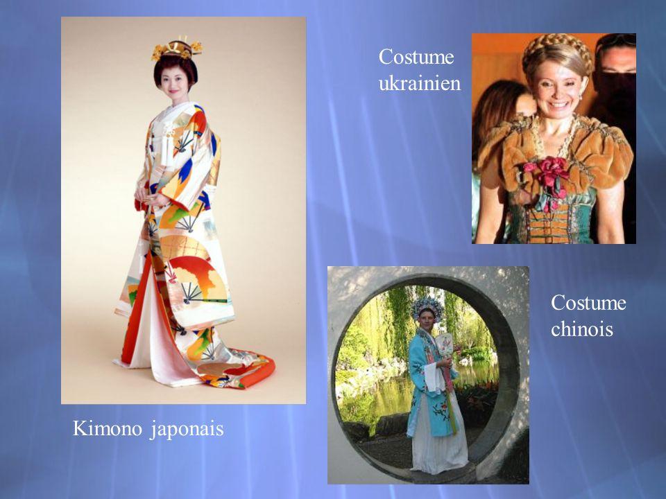 Costume ukrainien Costume chinois Kimono japonais