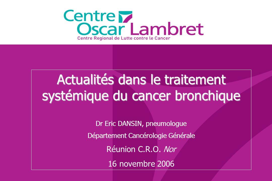 Actualités dans le traitement systémique du cancer bronchique