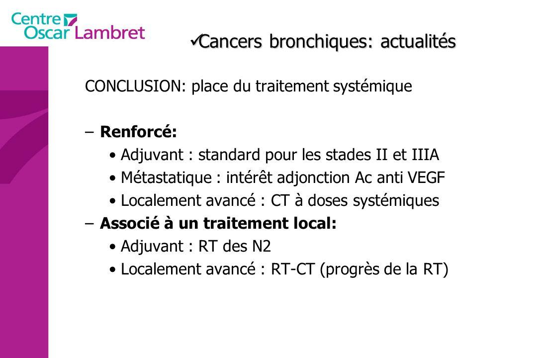 Cancers bronchiques: actualités