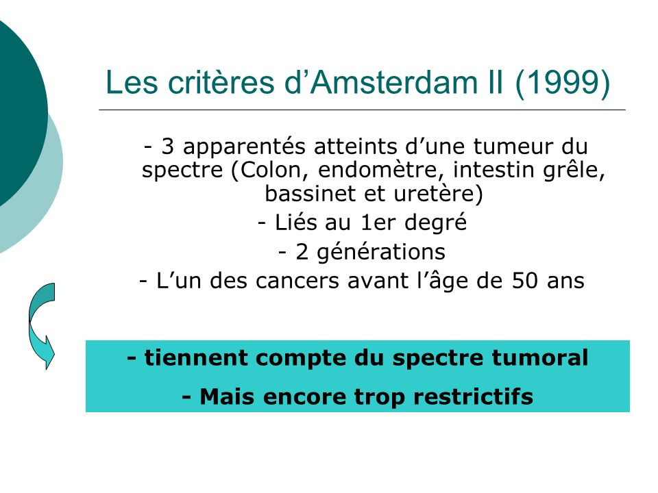 Les critères d'Amsterdam II (1999)