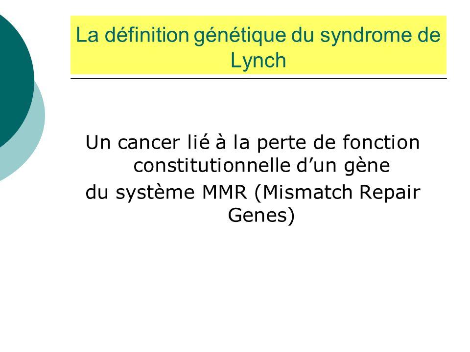La définition génétique du syndrome de Lynch