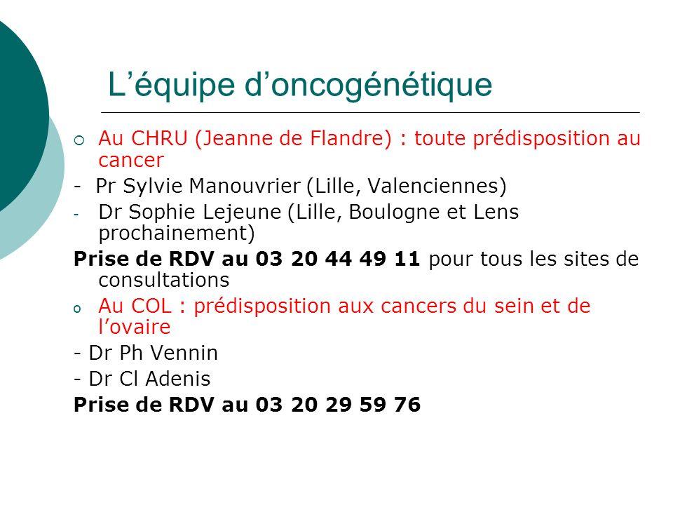 L'équipe d'oncogénétique