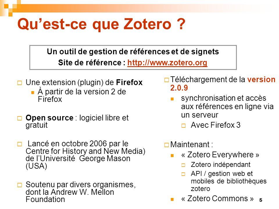 Qu'est-ce que Zotero Un outil de gestion de références et de signets