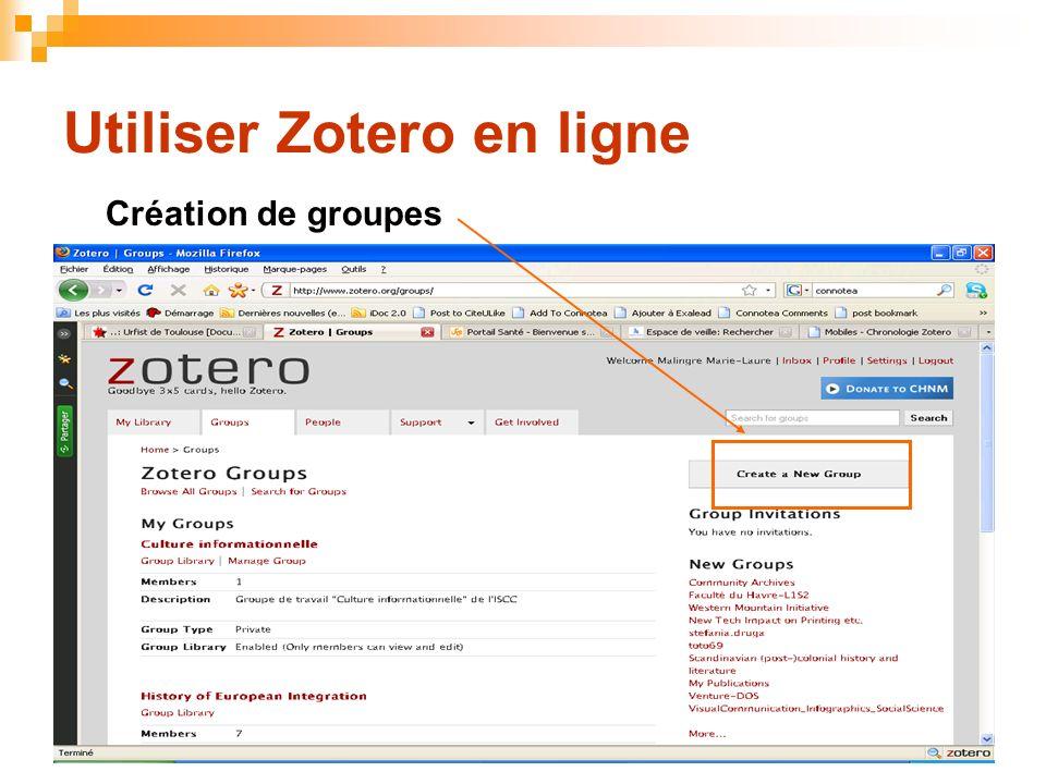Utiliser Zotero en ligne