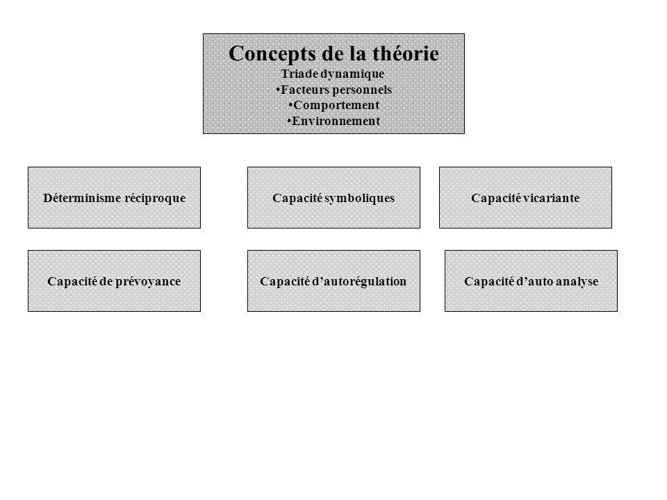 Concepts de la théorie Triade dynamique Facteurs personnels