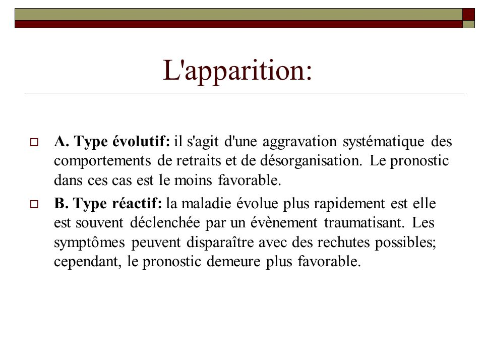 L apparition: