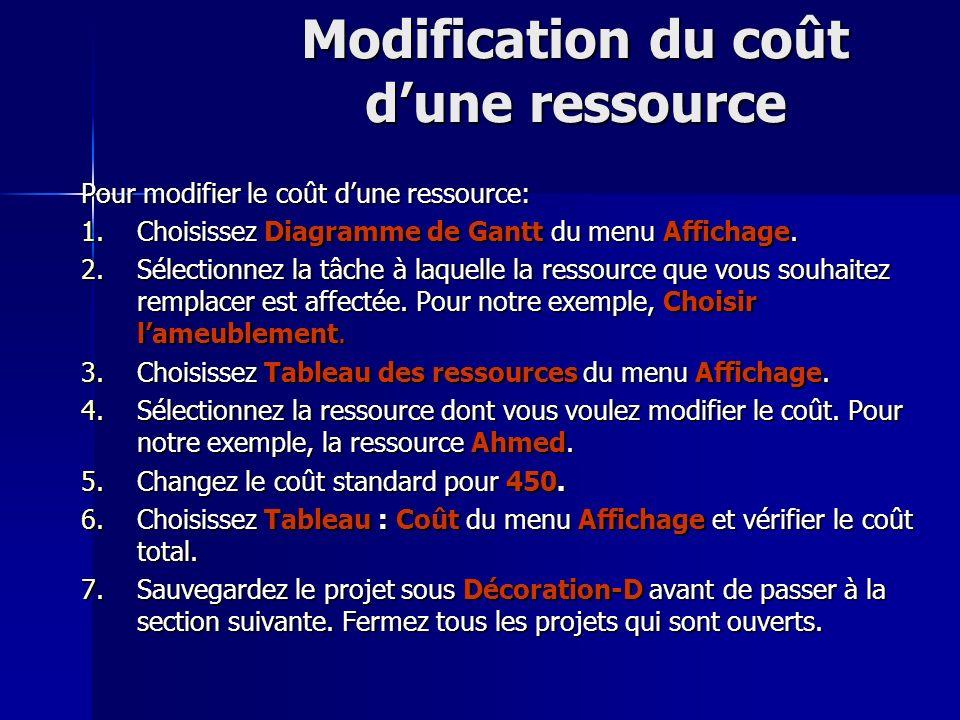 Modification du coût d'une ressource