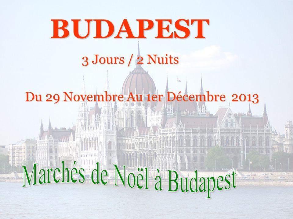 3 Jours / 2 Nuits Du 29 Novembre Au 1er Décembre 2013