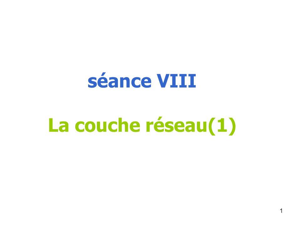 séance VIII La couche réseau(1)