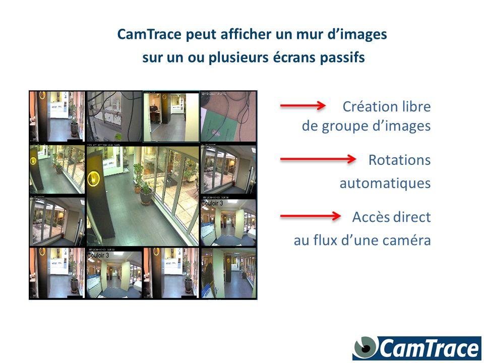 CamTrace peut afficher un mur d'images