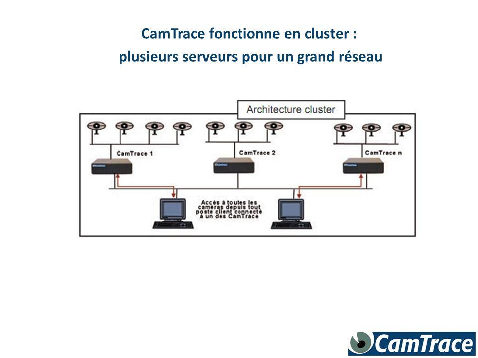 CamTrace fonctionne en cluster :
