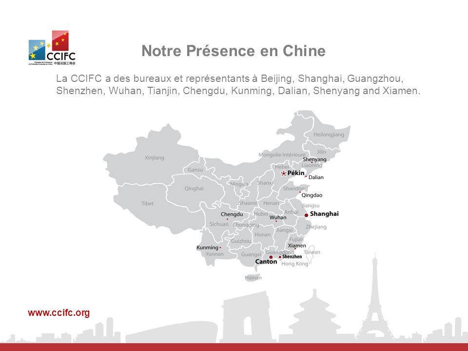Notre Présence en Chine