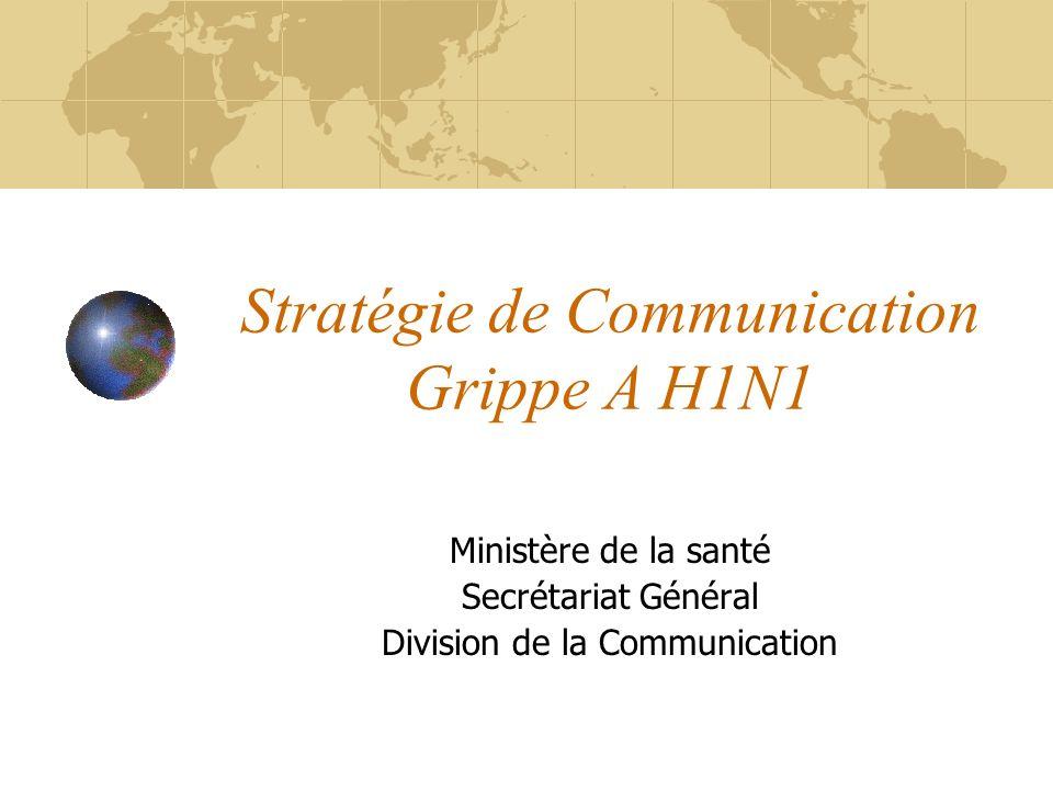 Stratégie de Communication Grippe A H1N1
