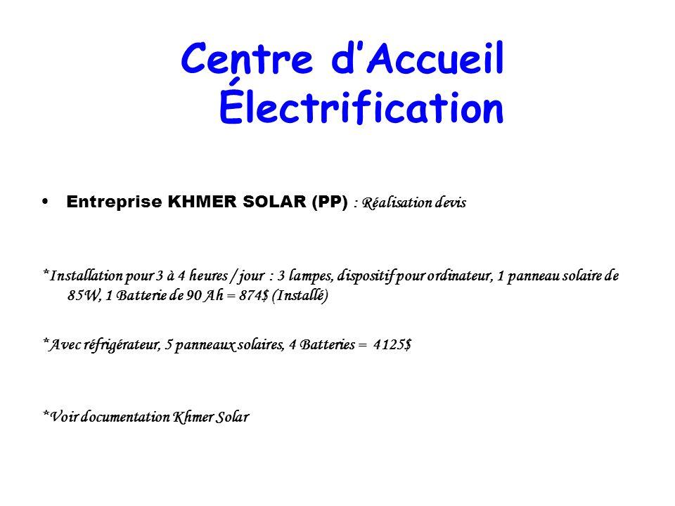 Centre d'Accueil Électrification