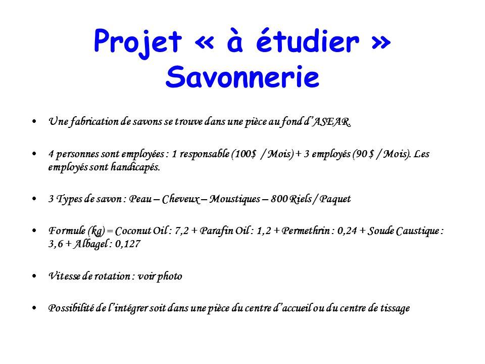 Projet « à étudier » Savonnerie