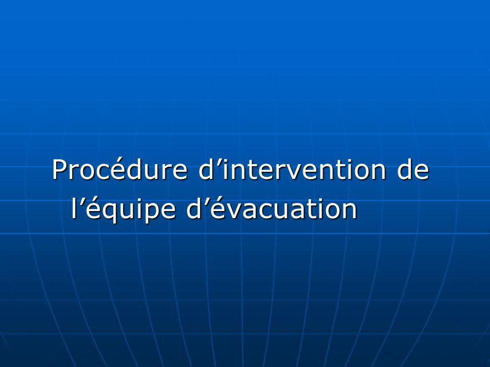 Procédure d'intervention de