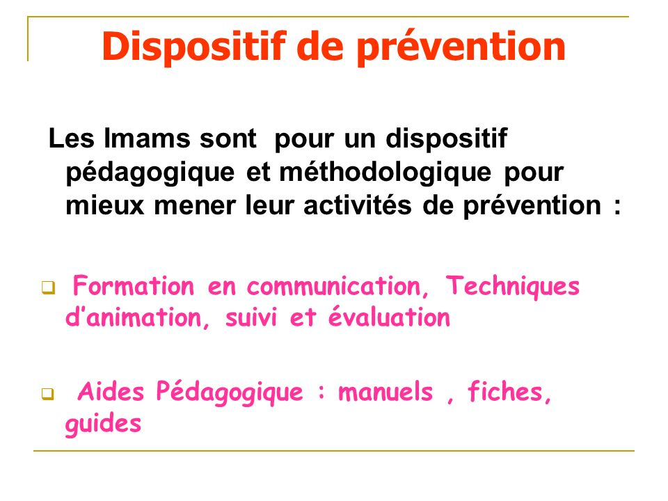 Dispositif de prévention