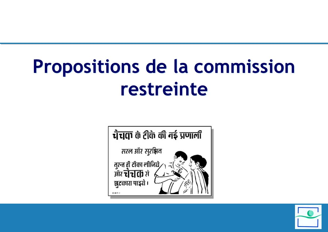 Propositions de la commission restreinte