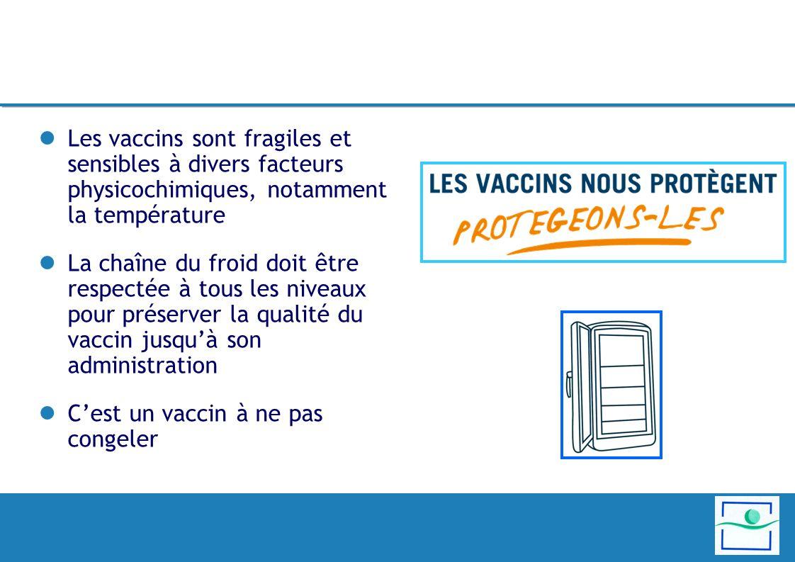 Les vaccins sont fragiles et sensibles à divers facteurs physicochimiques, notamment la température