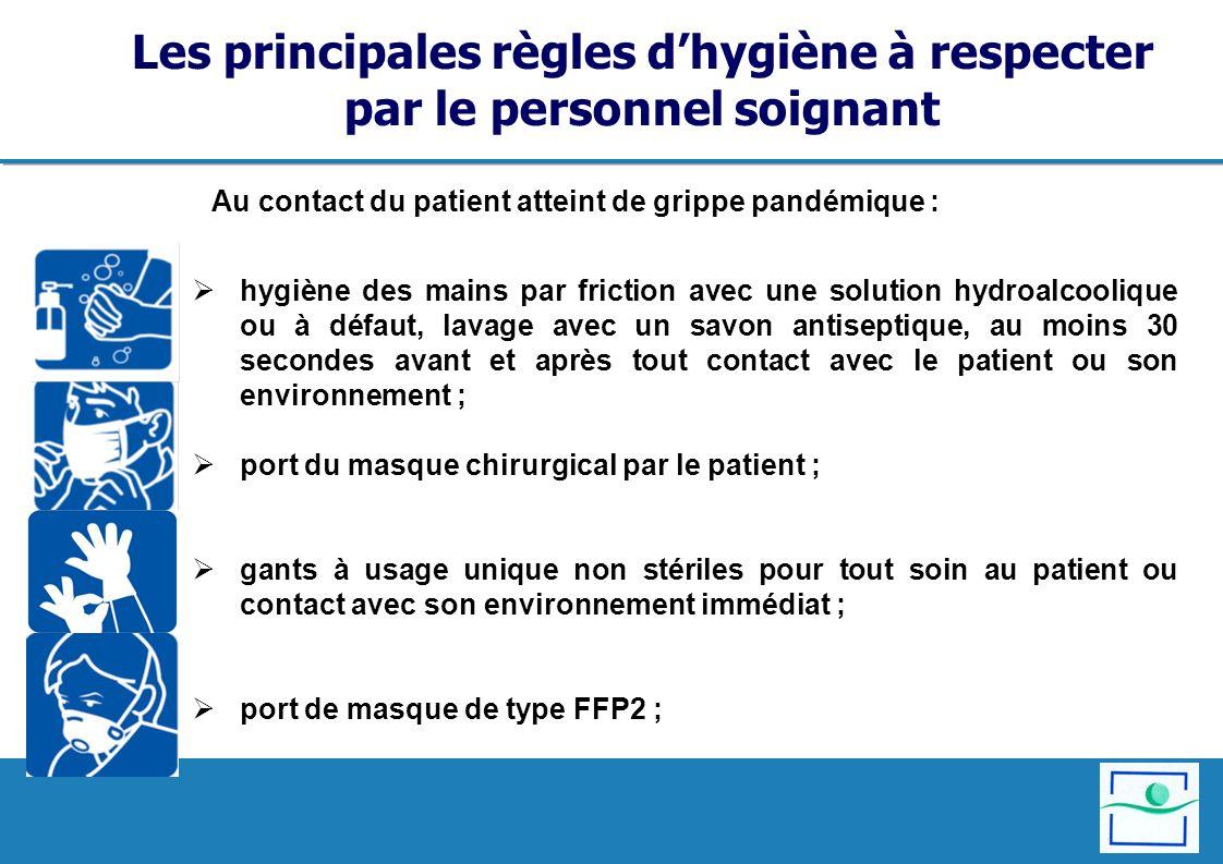 Les principales règles d'hygiène à respecter par le personnel soignant