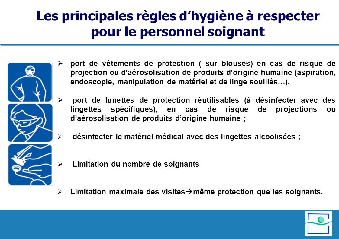 Les principales règles d'hygiène à respecter pour le personnel soignant